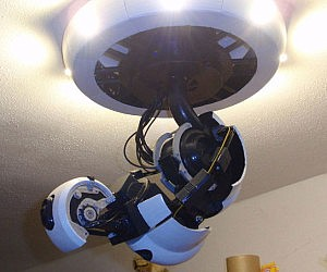 GlaDOS Robotic Ceiling Arm Lamp