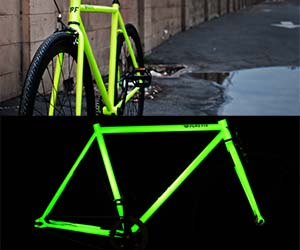 glow in the dark bicycle. Black Bedroom Furniture Sets. Home Design Ideas