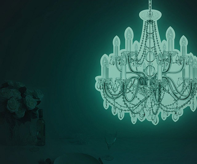 New Glow In The Dark Chandelier Decal