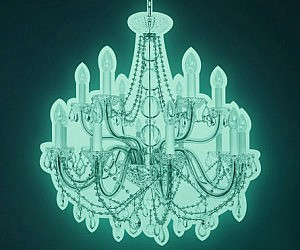 Cute Glow In The Dark Chandelier Decal