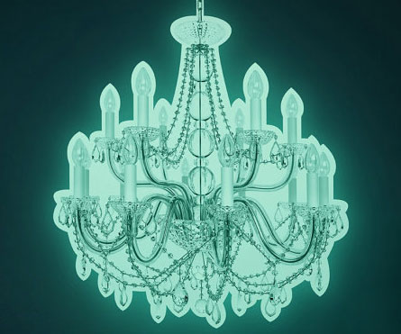 Glow In The Dark Chandelier Decal