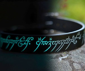 Glow In The Dark Elvish Dog Collar