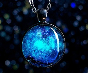 Awesome Glow In The Dark Galaxy Necklace