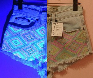 Glow In The Dark Jean Shorts