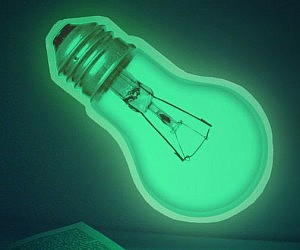 Glow In The Dark Light Bulb Sticker