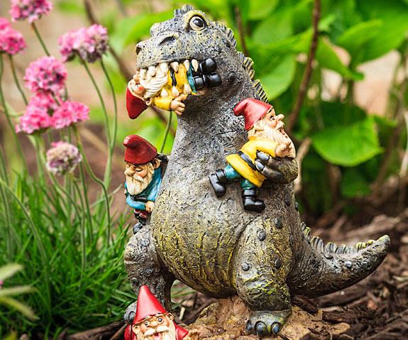 garden gnomezilla - Funny Garden Gnomes