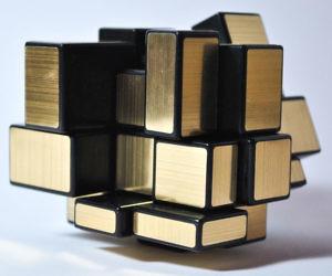 Gold Mirror Puzzle Cube
