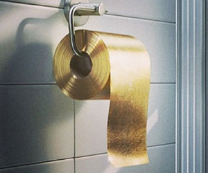 gold toilet seat cover. Gold Toilet Paper