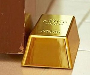 Gold Bar Door Stop