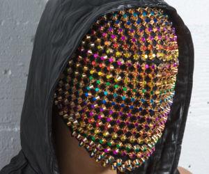 Golden Rainbow Haute Couture Mask