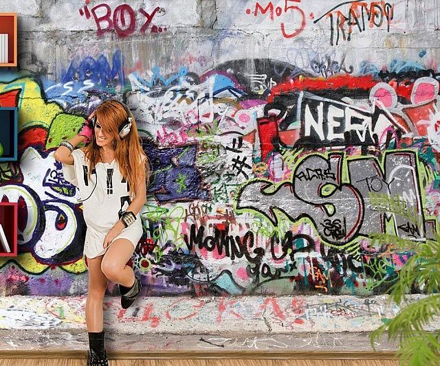office graffiti wall. Graffiti Wall Mural Office E