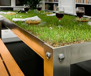 Grassy picnic table indoor grassy picnic table watchthetrailerfo