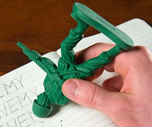 Green Army Men Erasers