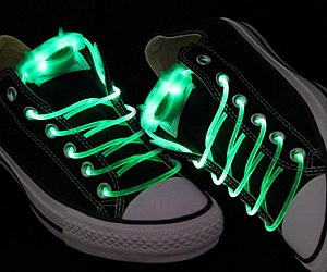 Green Light Up Shoelaces