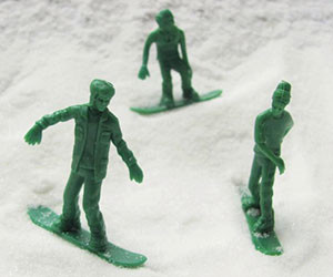 Green Toy Snowboarders