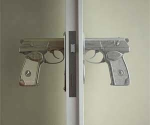 Hand Gun Door Knobs