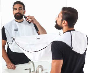 Facial Hair Clippings Catcher Bib