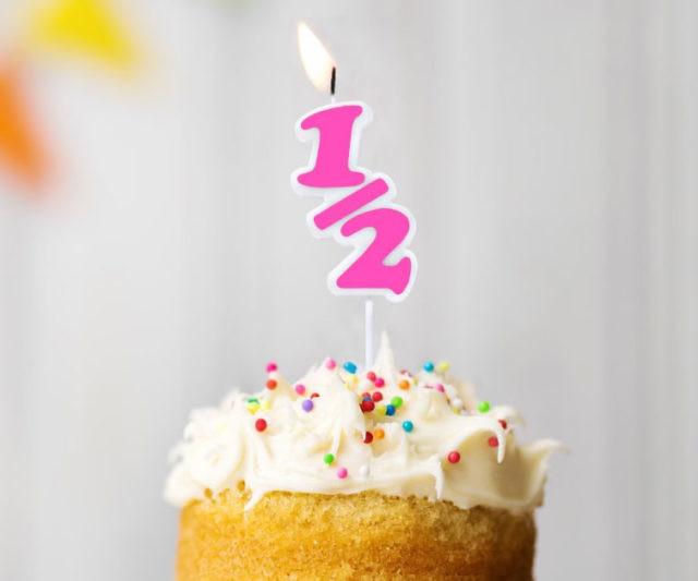Half Birthday Candle