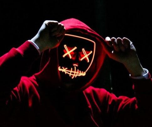 Halloween LED Light Up Mask