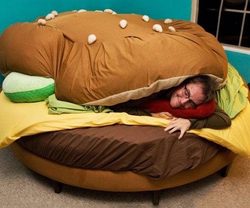 Vintage Hamburger Bed