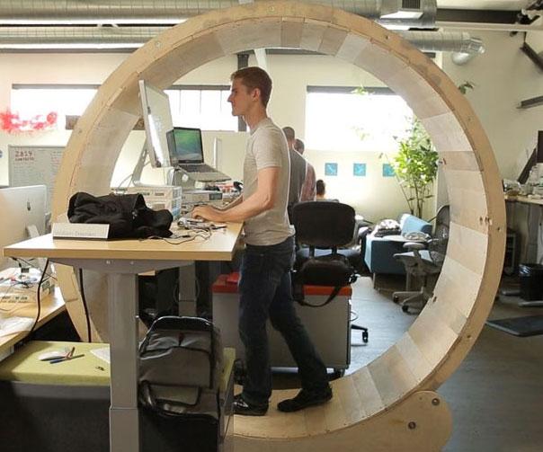 Hamster Wheel Standing Desk   $0.00