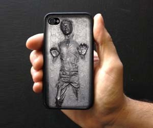 new styles ddba6 e3e0a Han Solo Frozen iPhone Case