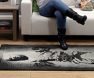 Han Solo Frozen In Carbonite Rug