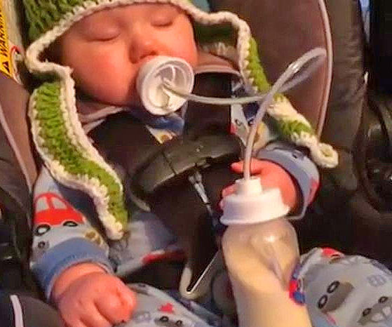 Hands-Free Baby Bottle Feeder System