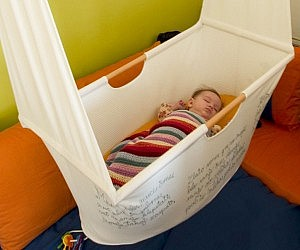 DIY Hanging Cloth Crib