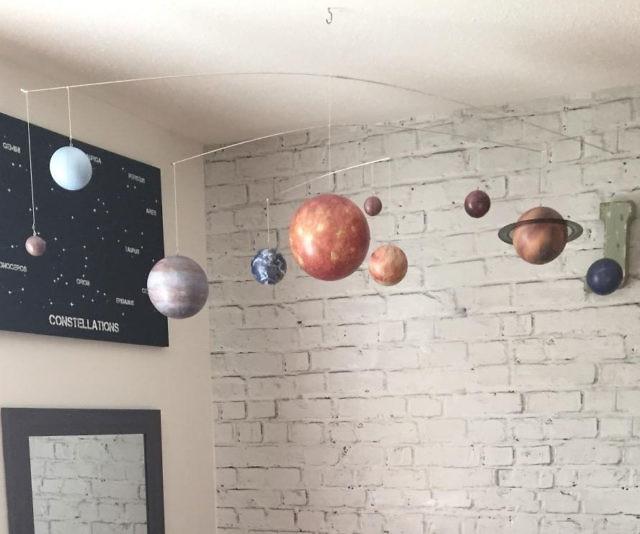 Hanging Solar System Mobile