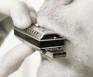 Playable Harmonica USB Drive