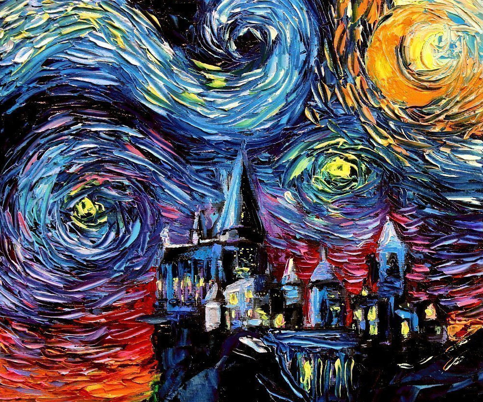 Starry Night Harry Potter Hogwarts - coolthings.us