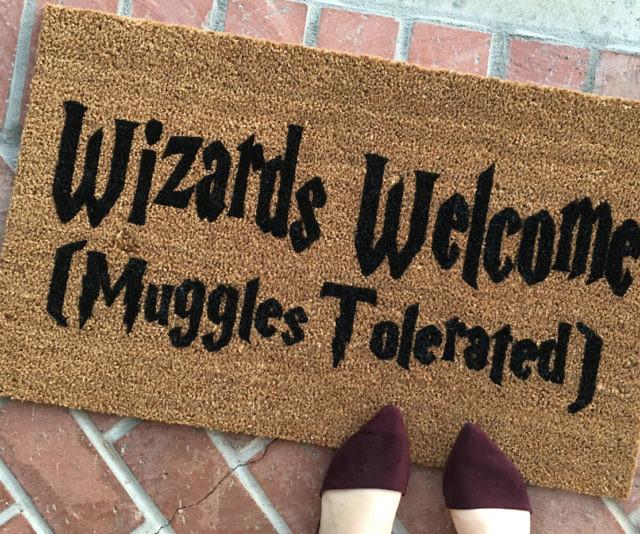 & Harry Potter Wizards Welcome Door Mat
