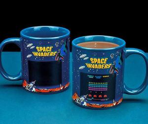Heat Reactive Space Invaders Coffee Mug