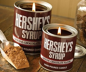 Hershey's Syrup Chocolate Candle