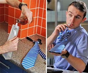 Hidden Flask Tie