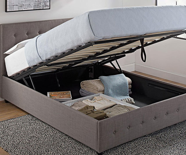 King Size Bed Frame With Hidden Storage