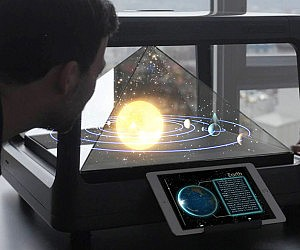 Interactive Tabletop Holographic Display