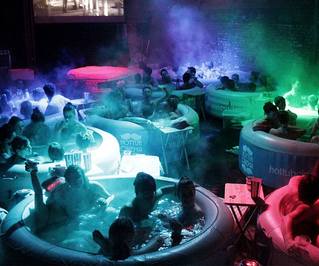 Hot Tub Movie Theater