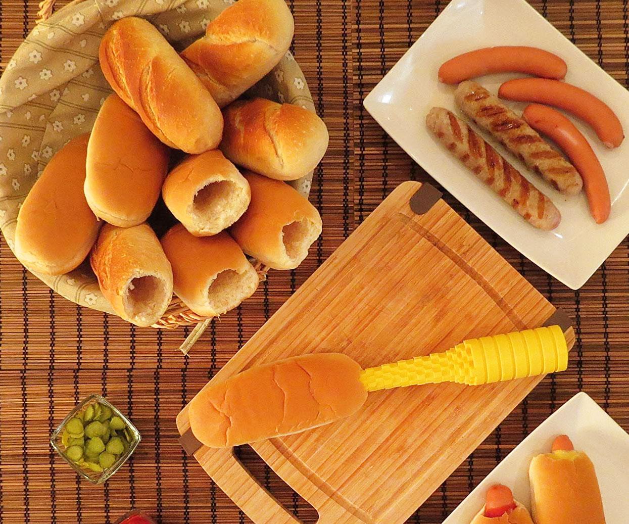 Hot Dog Bun Driller