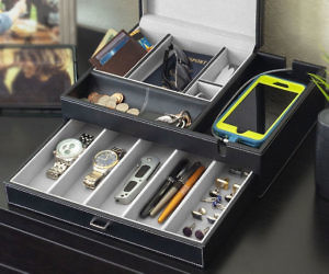 Men s Valet Organizer Box