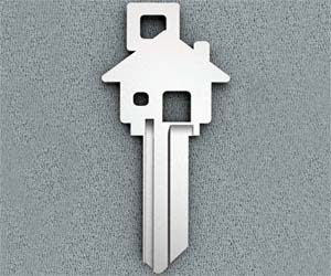 House Shaped House Key