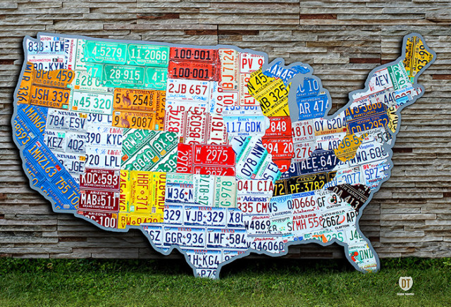 License Plate State Map.License Plate Map Of The Usa