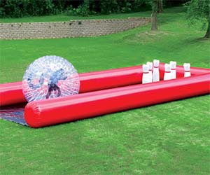 Human Bowling Ball Game