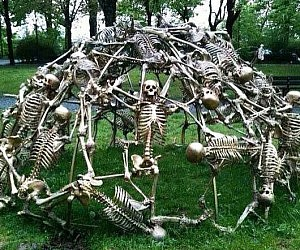Human Skeleton Jungle Gym