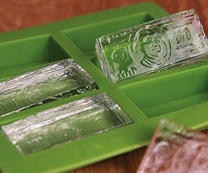 Hundred Dollar Bill Ice Cube Mold
