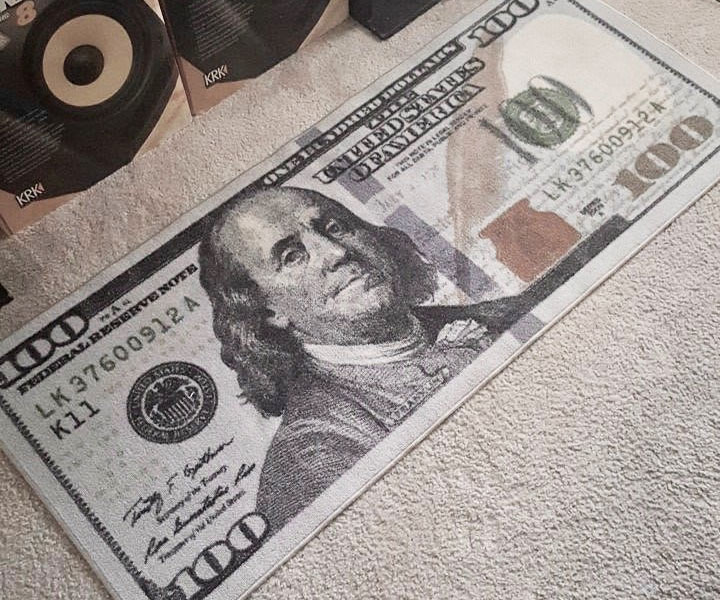 Hundred Dollar Bill Runner Rug