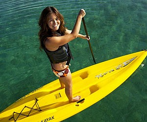 Hybrid Stand-Up-Sit-On Paddle Board