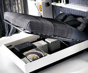 Hydraulic Storage Bed & Hidden Storage Compartment Bed