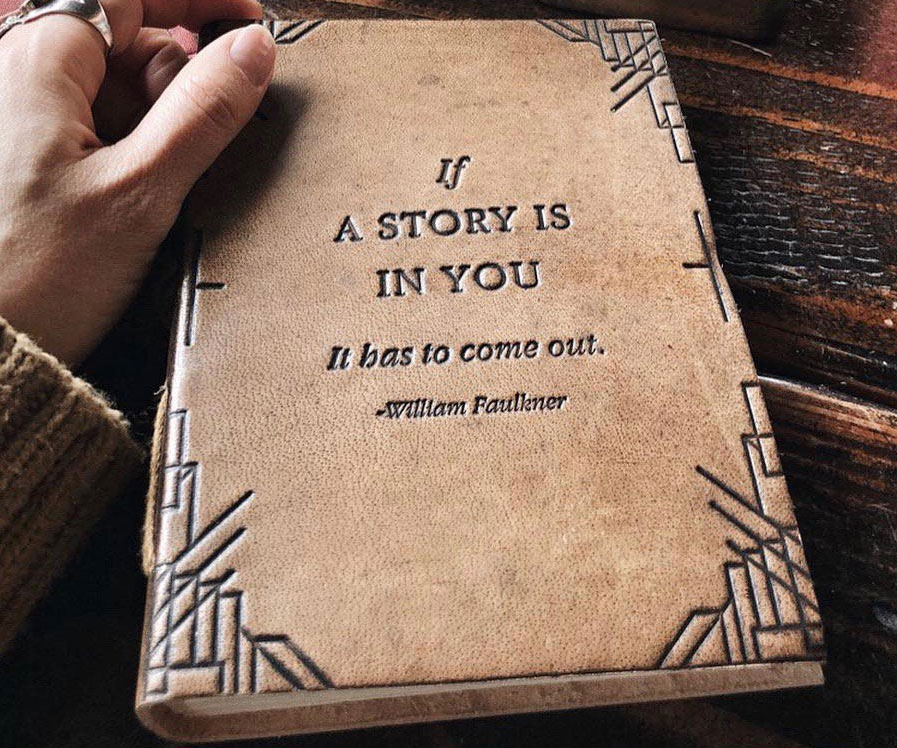 If A Story Is In You Leather Journal